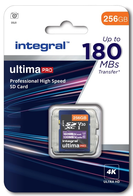 INTEGRAL SDXC 256Go CL10 180MB/130MB