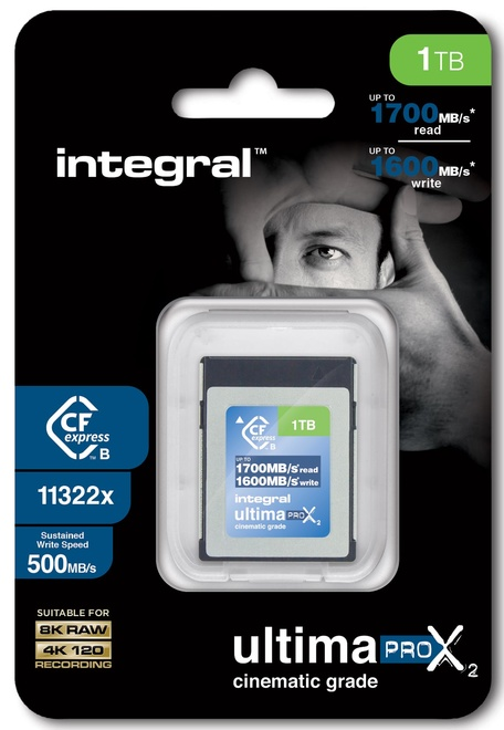 INTEGRAL CF 1To Cinematic 8k RAW 4K120 500MB/s