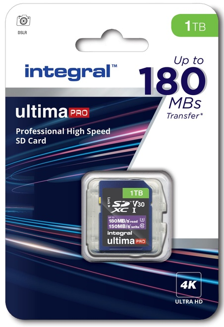 INTEGRAL SDXC 1To CL10 180MB/150MB/s
