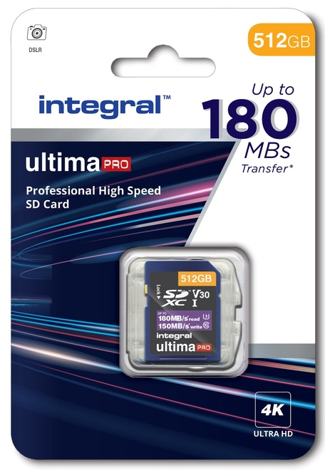 INTEGRAL SDXC 512Go CL10 180MB/150MB
