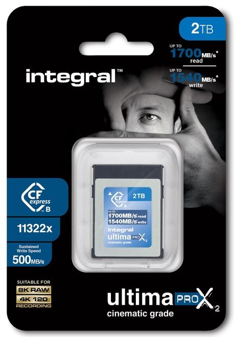 INTEGRAL CF 2To Cinematic 8k RAW 4K120 500MB/s