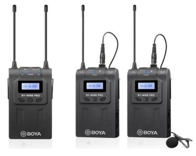 BOYA MICROPHONE SANS FIL UHF WM8 PRO-K2