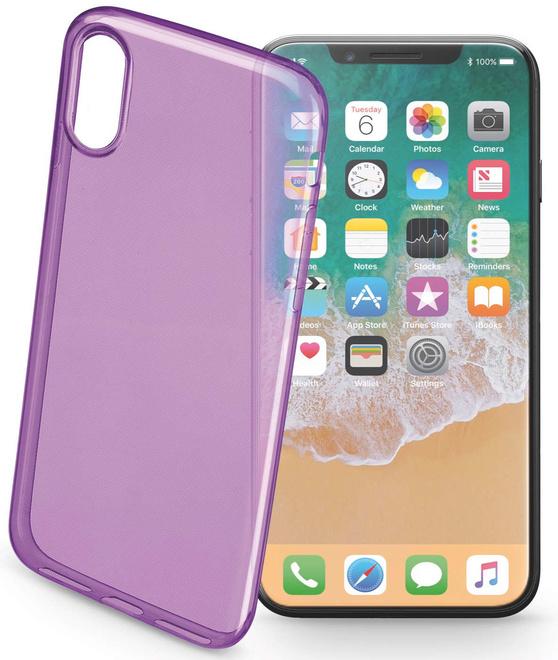 CELLULAR LINE coque ultra slim violet p/iphone x/xs