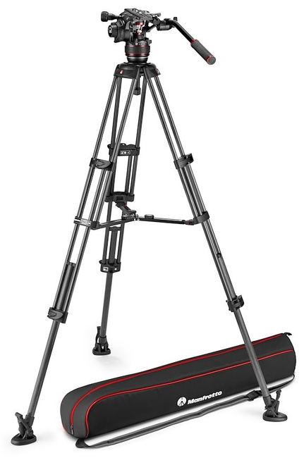 MANFROTTO TREPIED NITROTECH MVK608 CF TWIN MS