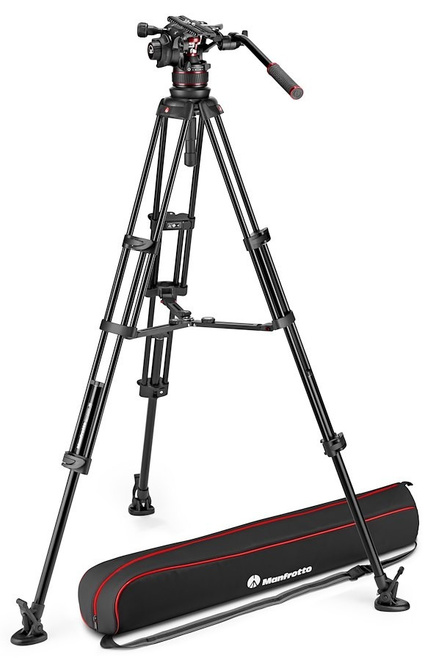 MANFROTTO TREPIED NITROTECH MVK612 ALU TWIN MS