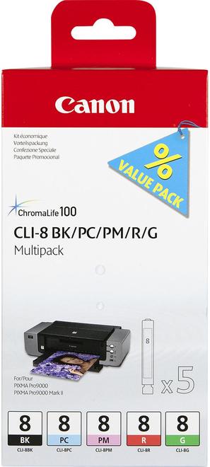CANON multi-pack cli-8 bk/pc/pm/r/g (pro 9000)