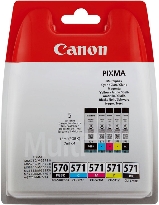 CANON pack 5 cart p/ TS5050/6151
