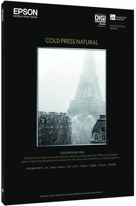 EPSON papier cold press natural a2 25f.