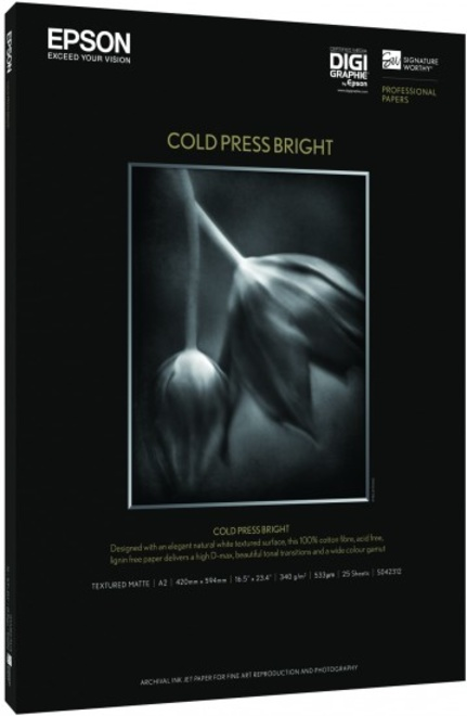 EPSON papier cold press bright a2 25f.