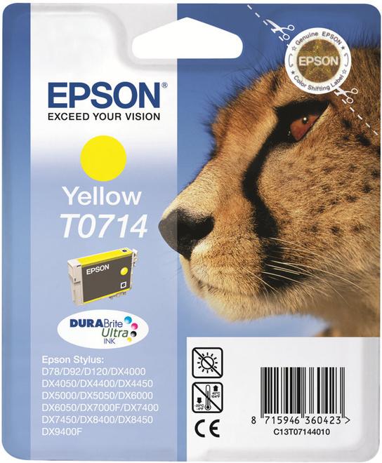 EPSON cart jaun stylus d78/dx4050/5050
