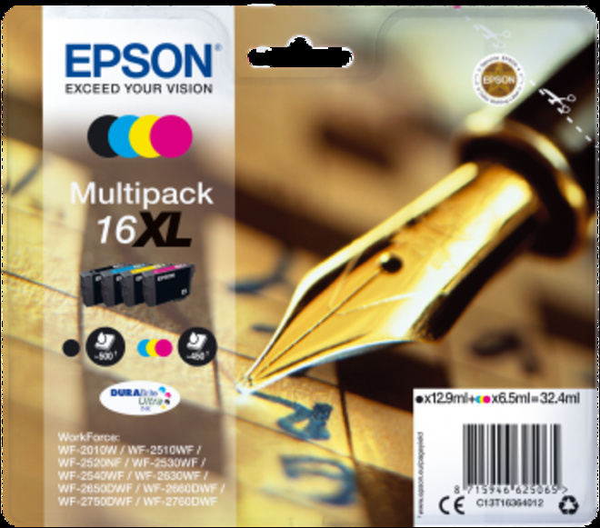 EPSON pack 4 cart plume XL.