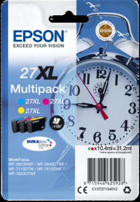 EPSON PACK 3 CART COULEUR  XL REVEIL PR WF77.