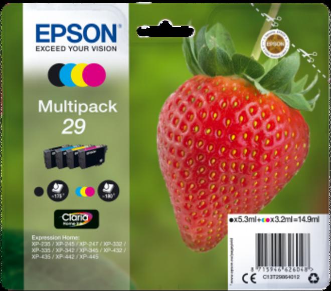 EPSON pack 4 cart - serie FRAISE.
