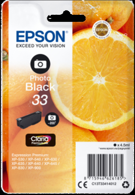 EPSON oranges T33 photo noire.