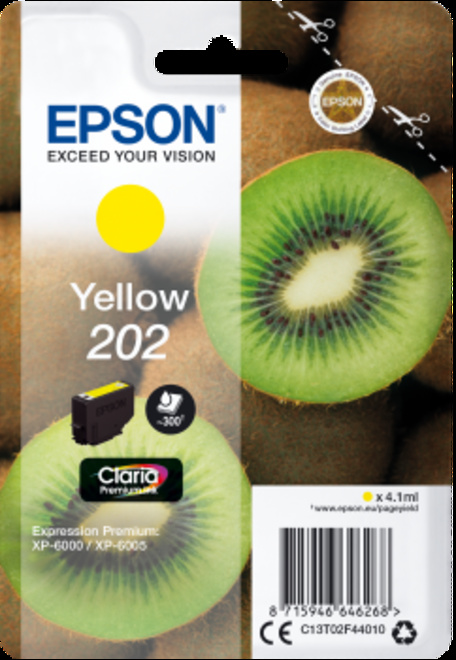 EPSON cart jaune kiwi pr xp 6000.