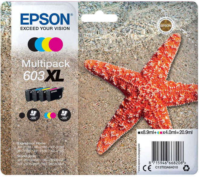 EPSON PACK 4 CART  XL ETOILE DE MER
