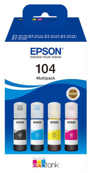 EPSON pack 4 reservoirs 104