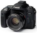 EASYCOVER Coque silicone Canon 77 D Noir