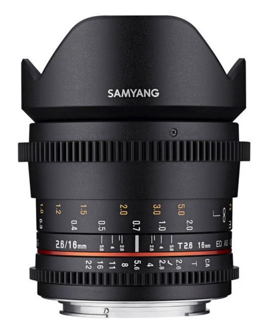 SAMYANG 16/T2.6 VDSLR Canon