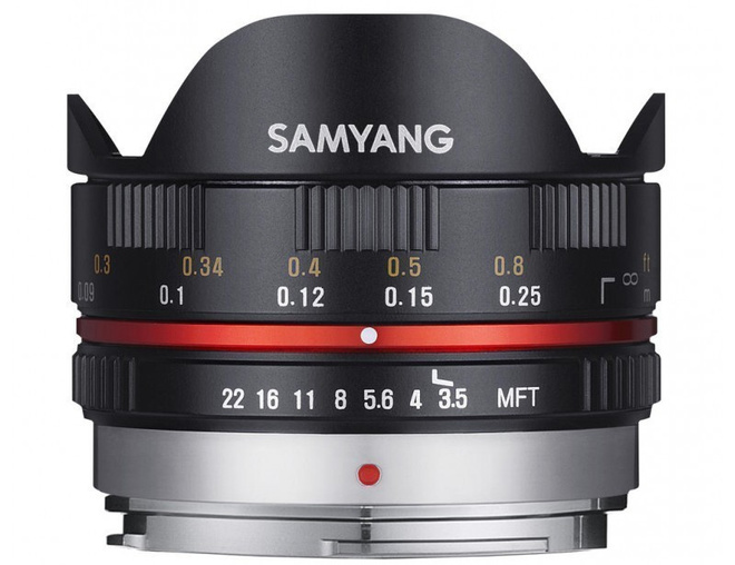 SAMYANG 7.5/3.5 UMC Fisheye Micro 4/3 Noir