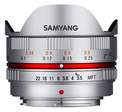 SAMYANG 7.5/3.5 UMC Fisheye Micro 4/3 Argent
