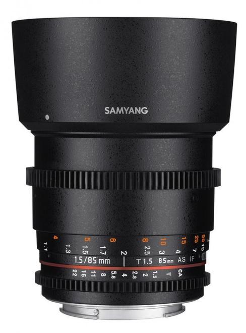 SAMYANG 85/T1.5 VDSLR II Sony E