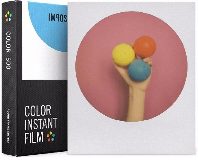 IMPOSSIBLE film 600 color round frame.