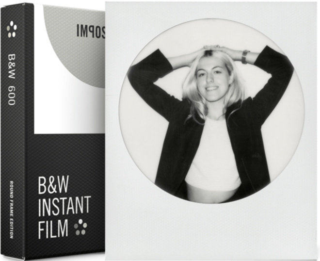 IMPOSSIBLE film 600 b/w round frame.