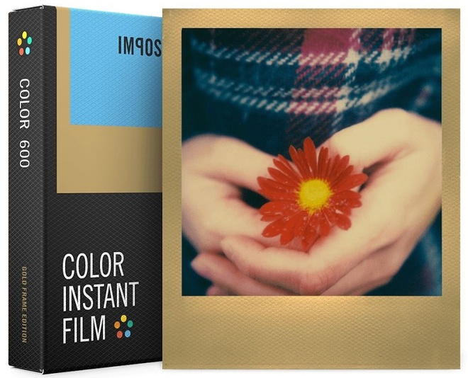 IMPOSSIBLE film 600 color gold frame.