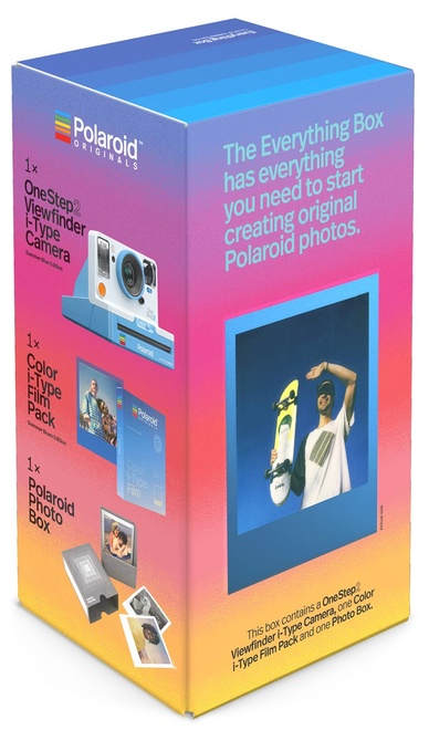 POLAROID EVERY THING BLUE BOX OS 2VF+Film+BOX